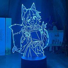 3D Illusion Lampe Led Nachtlicht Fox Senko San