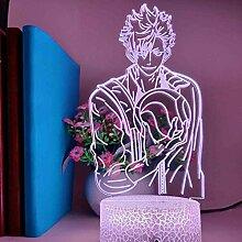 3D-Illusion Lampe LED-Nachtlicht Haikyuu Tooru