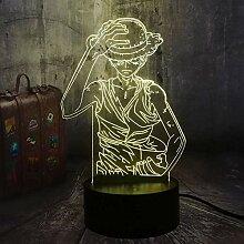 3D Illusion Lampe Led Nachtlicht Japan Anime One