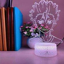 3D Illusion Lampe LED Nachtlicht Kind Anime