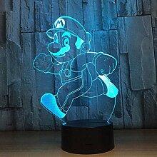 3D Illusion Lampe LED Nachtlicht Neuheit Super