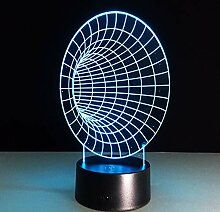 3D Illusion Lampe Led Nachtlicht Space Tunnel 3D
