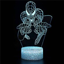 3D Illusion Lampe Led Nachtlicht Spider-Man d