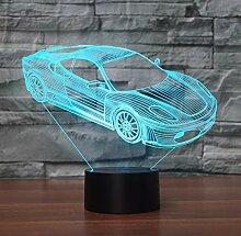 3D Illusion Lampe Led Nachtlicht Super Car Touch
