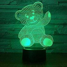 3D Illusion Lampe Led Niedlichen Teddybär