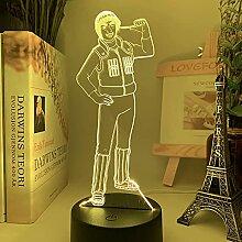 3D Illusion Lampe Tisch Stimmung Nachtlicht Figur