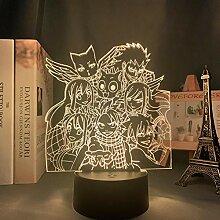 3D Illusion Lampe Tisch Stimmung Nachtlicht Manga