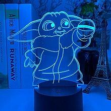 3D Illusion Lampe Tisch Stimmung Nachtlicht Touch