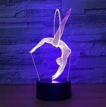 3D Illusion Lampe Weihnachten Nachtlicht Neben