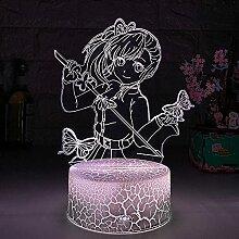 3D Illusion Lampe Weihnachts Nachtlicht Neben