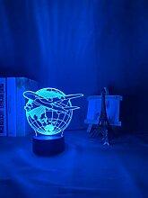 3D Illusion LED Nachtlicht 3D Lampe Flugzeug LED