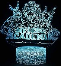 3D Illusion LED Nachtlicht, My Hero Academia Anime