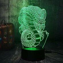 3D Illusion Licht LED Nachtlicht Drache Schlange
