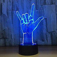 3D Illusion Light Ich liebe dich Gebärdensprache