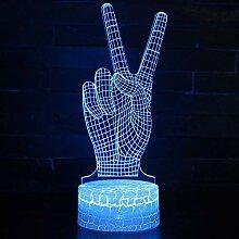 3D Illusion Nachtlampe 7 Farben ändern LED