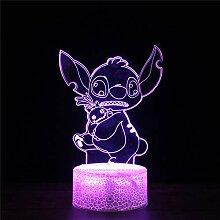 3D Illusion Nachtlicht 3D Optische Illusionslampe