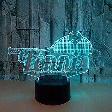 3D Illusion Nachtlicht 3D Visual Tennis Modell