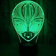 3D Illusion Nachtlicht Die Aliens 3D Lampe
