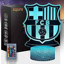 3D Illusion Nachtlicht Fußball D mit 16 Farben