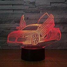 3D Illusion Nachtlicht LED Sportwagen 3D Lampe 7
