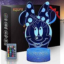 3D Illusion Nachtlicht Minnie Maus B Touch LED