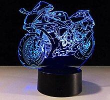 3D Illusion Nachtlicht Motorrad für Kinder