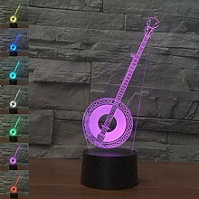 3D Illusion Nachtlicht Musikinstrument 7