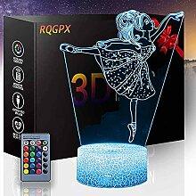 3D-Illusion Schreibtischlampe Ballett C Nachtlicht