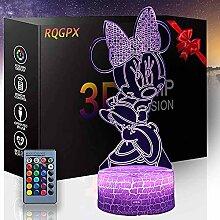 3D-Illusion-Schreibtischlampe, Minnie Maus,