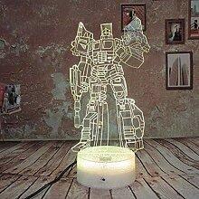 3D Illusion Transformers Nachtlichtlampe 7 Farben