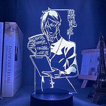 3D Illusions Lampe,Anime Licht Schwarz Butler Led