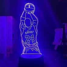 3D Illusions Lampe,Led Nachtlicht Kobe Jump Shoot