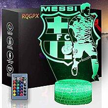 3D-Illusions-Nachtlampe, Fußball-Fans,