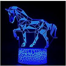 3D-Illusions-Nachtlicht, LED-Schreibtischlampe,