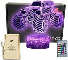 3D-Illusions-Schreibtischlampe,