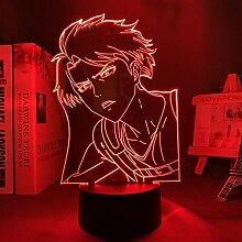 3D Illusionslampe Anime Angriff auf Titan Levi