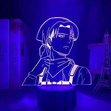 3D Illusionslampe Anime Anime Levi Ackerman 3d