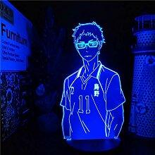 3D Illusionslampe Anime Haikyuu KEI TSUKISHIMA