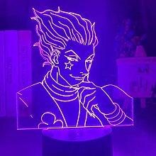 3D Illusionslampe Anime Nachtlicht Anime Hunter X