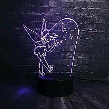 3D-Illusionslampe Cartoon Blowing Bubble Elf
