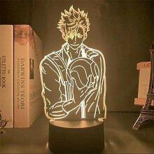 3D-Illusionslampe führte Nachtlicht Haikyuu