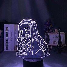 3D-Illusionslampe führte Nachtlicht Kimetsu No