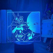 3D-Illusionslampe führte Nachtlicht League of