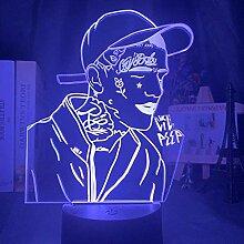 3D-Illusionslampe führte Nachtlicht Lil Peep für