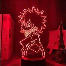 3D-Illusionslampe führte Nachtlicht My Hero