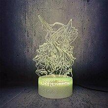3D-Illusionslampe führte Nachtlichtspiel Wow