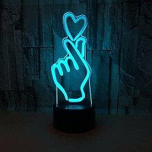 3D Illusionslampe Herz