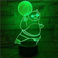 3D Illusionslampe Kung Fu Panda Basketball LED