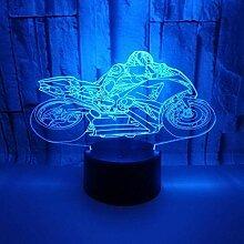 3D-Illusionslampe LED-Nachtlicht 7 Farbwechsel