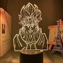 3D-Illusionslampe Led Nachtlicht Acryl Anime Jojos